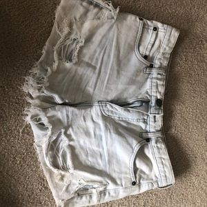 Free people ripped denim shorts